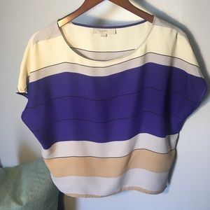 LOFT striped shirt size small